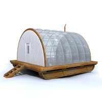 greenhouse shed 3d model