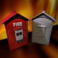 3d model box vintage 01 flame