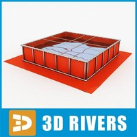 flexible water tank 3d 3ds