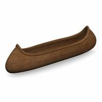 3d indian canoe model