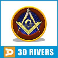 3d model masonic emblem symbol
