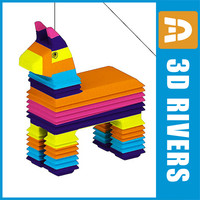 3d x pinata party paper