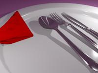3d dinner silverware model