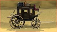 stagecoach 3d c4d