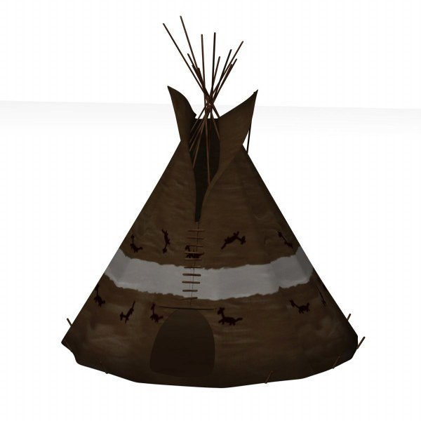 how to build a model indian teepee