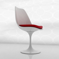 white chair saarinen 3ds