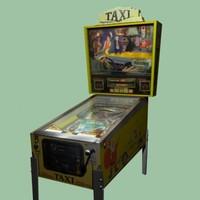 3d arcade pinball taxi model
