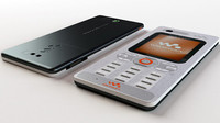 sonyericsson w880i mobile 3d model