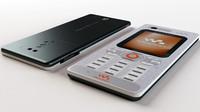 sonyericsson w880i mobile 3d model