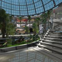3d atrium hall store