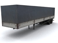 3d lorry trailer model