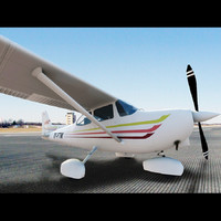3d model of skyhawk sp 172