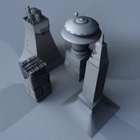 space derelict structures 3d model