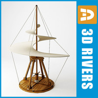 3d model flying machine da vinci