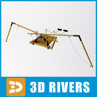 Leonardo da Vinci flying machine 04 by 3DRivers
