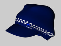 3d model of beanie gorro visera