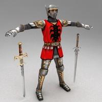 3d model medieval warrior