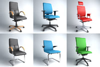3d office armchairs chairs 6 model