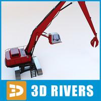 3dsmax port crawler crane