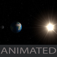 3d model solar simulation earth