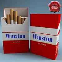winston cigarettes 3d max