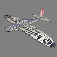 balsa glider 3d model