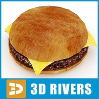burger food package 3d 3ds