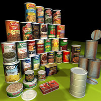 canned food 01 containers 3d model