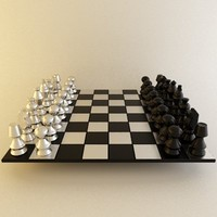 3d model chess draughts
