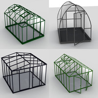 house green greenhouse 3ds