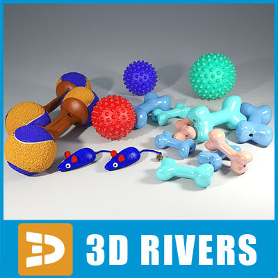 3d pet toys set model - Pet toys set by 3DRivers... by 3DRivers
