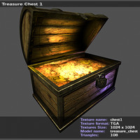 pirate chest 3d model