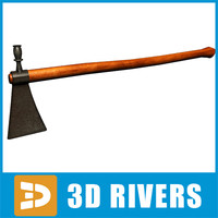tomahawk axe native 3d 3ds