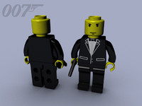 007 james bond lego 3d model