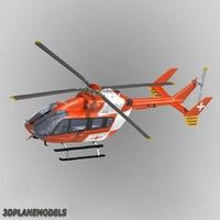 3d model of eurocopter ec-145 rega swiss