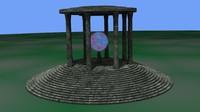 3d crystal pavilion