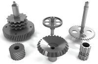 3d model misc gears