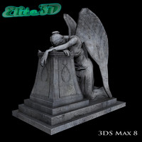 3d model angel grief statue