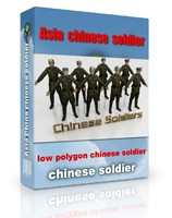 Asia chinese soldier Low polygon max.rar