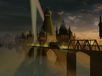 3d fog city