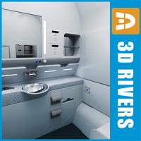 maya airbus lavatory interior