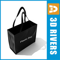 canvas bag 3d model