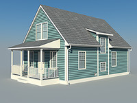 small house cold pontiac 3d model
