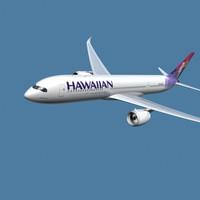 a350-900 hawaiian 3d 3ds