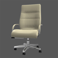 3d model leather office chair