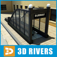 chicago subway entrance 3d model