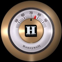 Round Thermostat (1953) by Henry Dreyfuss Associates and Carl Kronmiller for Honeywell