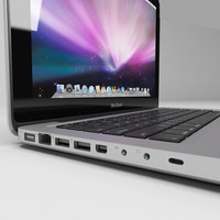 mac book 2009 laptop 3d model