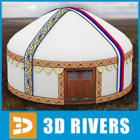 nomad tent home 3d model