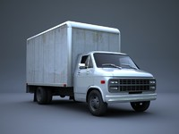 3d delivery truck model